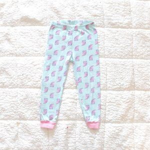 Children's Place size 3 pink and mint owl leggings